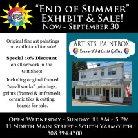 End of Summer Exhibit and Sale at Artists' Paintbox Gallery - Now through September 30