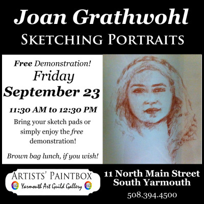 Joan Grathwohl Portrait Sketching Demonstration - FREE