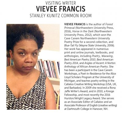 Visiting Writer: Vivee Francis