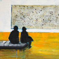 People Looking Art Paintings: New Works by San Lym...