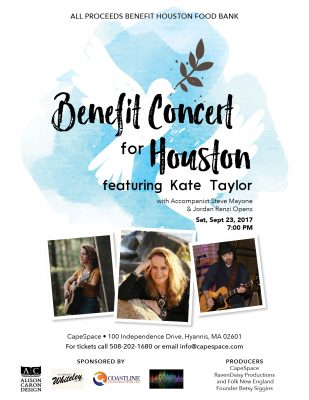 Benefit Concert for Houston Featuring Kate Taylor