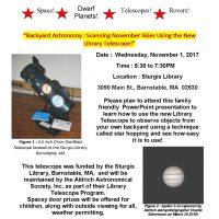 Backyard Astronomy: Scanning November Skies