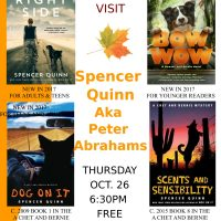 Author Spencer Quinn at West Falmouth Library