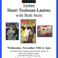 Lecture on Henri de Toulouse-Lautrec with Beth Stein