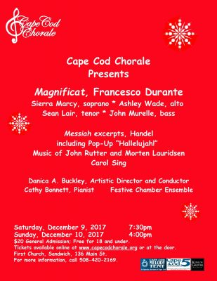CAPE COD CHORALE PRESENTS: What Sweeter Music: Music of the Season