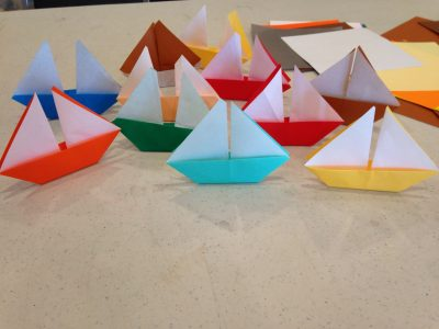 Holiday Origami Sailboat Ornament Workshop