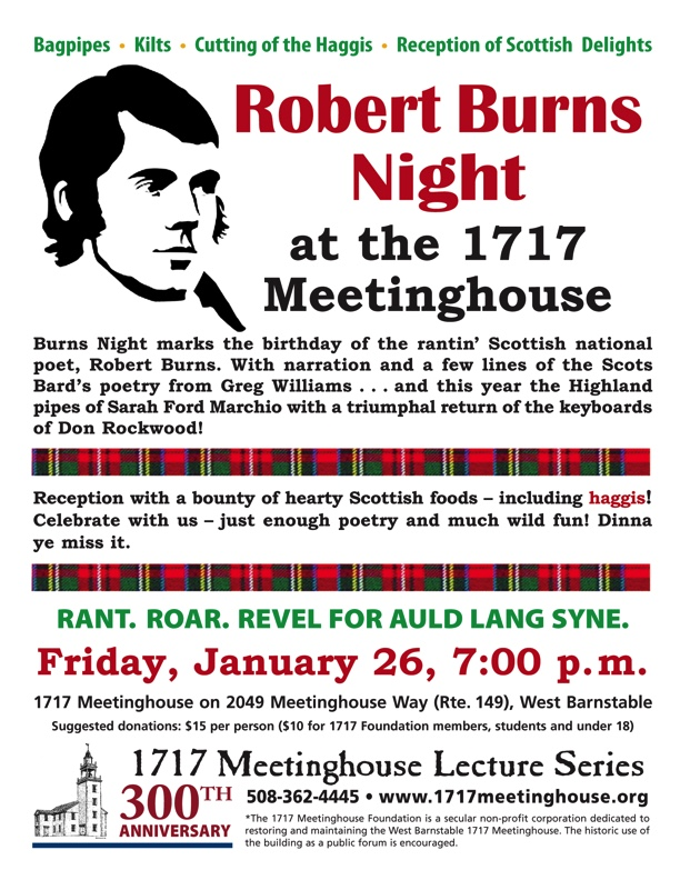 Burns Night Presented By 1717 Meetinghouse Foundation Inc