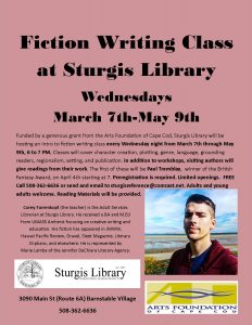 Intro to Fiction Writing Class at Sturgis Library
