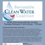 Barnstable Clean Water Coalition Discussion with Zee Crocker at Sturgis Library