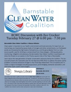 Barnstable Clean Water Coalition Discussion with Z...