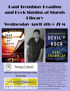 Paul Tremblay Reading and Book Signing at Sturgis ...