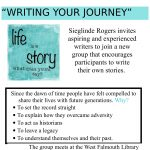 """""""Writing Your Journey"""" Writing Workshop"""