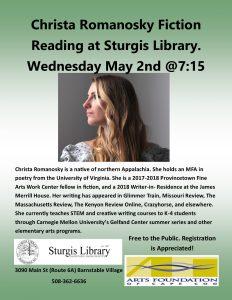 Christa Romanosky Fiction Reading at Sturgis Libra...