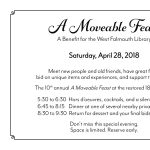 """""""A Moveable Feast"""" Fundraiser April 28th"""