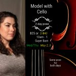 Model with Cello 2 day figurative portrait session