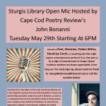 Sturgis Library Open Mic Hosted by Cape Cod Poetry Review's John Bonanni