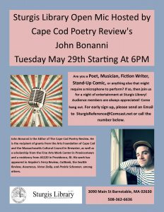 Sturgis Library Open Mic Hosted by Cape Cod Poetry...