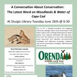 A Conversation About Conservation: The Latest Word on Woodlands & Water of Cape Cod