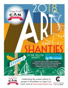 """CapeCodCAN Presents """"Motion by the Ocean"""" Art Exhibit at the HyArts Shanties June 8-13!"""