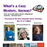 """A Cozy Mystery"" with Sheila Connolly, Edith Maxwell and Barbara Ross"