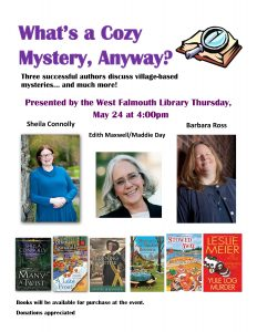 """""""A Cozy Mystery"""" with Sheila Connolly, Edith M..."""