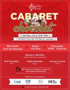 Cape Cod Chorale Cabaret au Chocolat