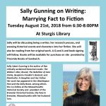 Sally Gunning on Writing: Marrying Fact to Fiction at Sturgis Library