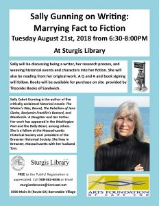 Sally Gunning on Writing: Marrying Fact to Fiction...