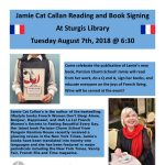 Jamie Cat Callan Reading at Sturgis Library