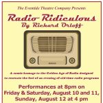Eventide Theatre Company continues its Summer of Satire with Radio Ridiculous