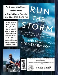 An Evening With George Michelsen Foy at Sturgis Li...