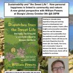 "Sustainability and ""the Sweet Life"": a Reading and Book Signing with William Powers"