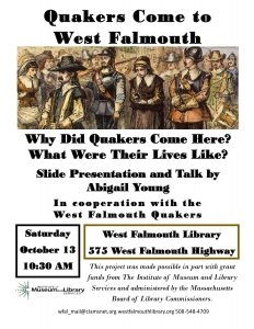 Quakers Come to West Falmouth – Talk and Slide Show
