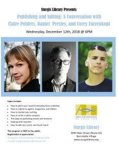 Publishing and Editing: A Conversation with Claire Polders, Daniel Presley, and Corey Farrenkopf