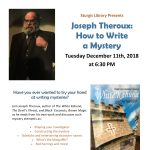 Joseph Theroux: How to Write a Mystery