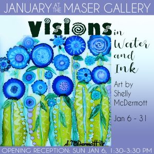 """Visions in Water and Ink"" - Art by Shelly McDermo..."