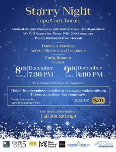 Cape Cod Chorale Presents: Starry Night - Music of the Season