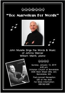 """Too Marvelous For Words"" John Murelle sings the words & music of Johnny Mercer"
