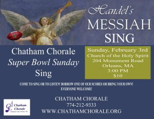 Chatham Chorale's Super Bowl Sunday Messiah Sing