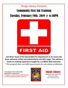 Community First Aid Training at Sturgis Library