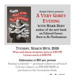 A Very Gorey Evening with Mark Dery