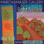 """""""Light & Color"""" - Fiber Art by Jane Parhiala & Helen Koehler"""
