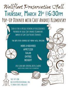 Pop-Up Dinner with Chef Andrej Klimovsky