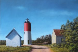 Living in a Postcard: Painting the Lighthouse