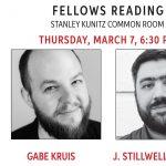 Fellows Reading: Gabe Kruis & J. Stillwell Powers