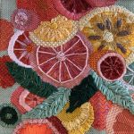 """Modern Stitches"" Needlepoint by Sally Baer"