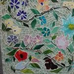 Mosaic Floral Mural (including Fused Glass Design Elements) with Tom & Saundra Snyder