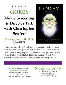 GOREY: Movie Screening & Director Talk with Ch...