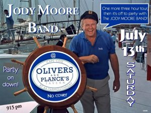 Jody Moore Band @ Olivers and Plancks Tavern!