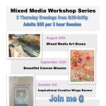 Mixed Media Workshop Series: Boxes, Blooms & Banners at the Harwich Cultural Center